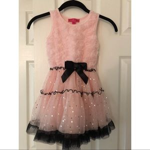 Betsy Johnson girls tulle and sequin party dress
